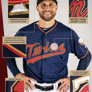 Twins replace cream-colored home uniforms with navy blue, scarlet